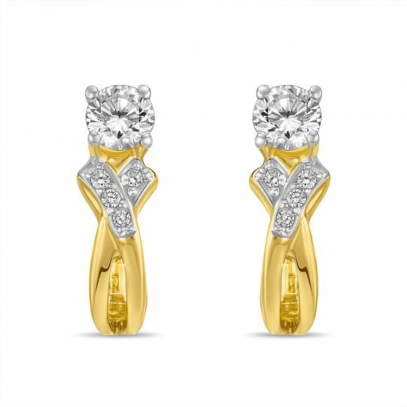 Серьги c бриллиантами, артикул E129-EH014455, Золото 585,  - купить в интернет-магазине Московский ювелирный завод